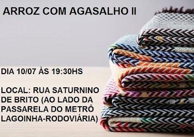 O Miistério Bom Samaritano irá realizar o Café com Agasalho, no dia 10, domingo, às 19:30h. Todos estão convidados.